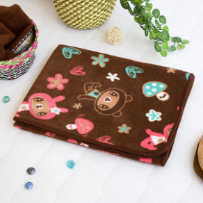 Brown Dancing Bear Throw Blanket