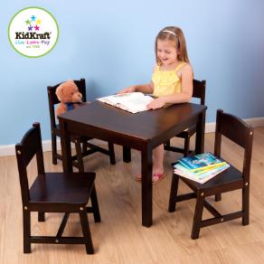 Farmhouse Table & 4 Chairs - Espresso